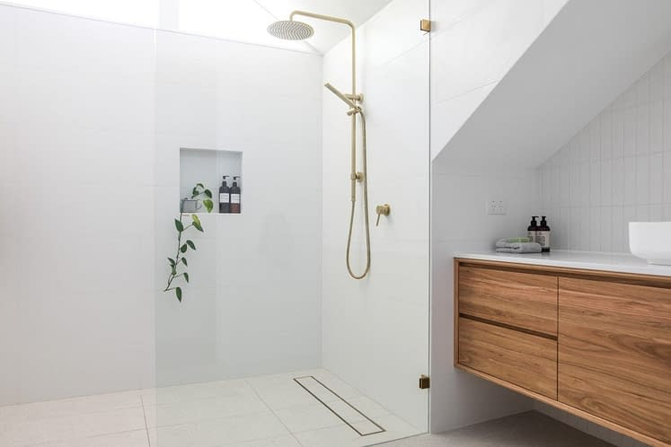 Take advantage of space in the shower